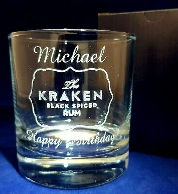 Personalised Captain Morgan//spiced Happy Birthday HI-BALL glass//present//gift58