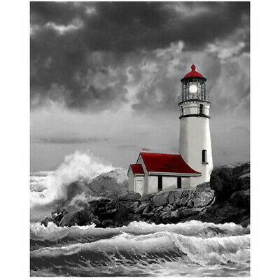 5D Lighthouse  Drill Diamond Painting Cross Stitch DIY Embroidery DIY Kit CB