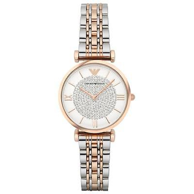New Emporio Armani Ar1926 Ladies Two Tone Watch - 2 Years Warranty - Certificate