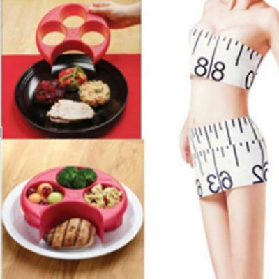 Food Control Meal Measure Plate Diet Portion Weight Loss Healthy Eating Slim CB