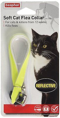 Beaphar Reflective Yellow Cat Kitten Fabric Flea Collar 4 Month Protection