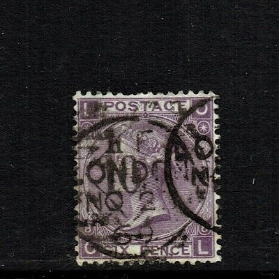 GB QUEEN VICTORIA 1867 6d DULL VIOLET (Without Hyphen) Mi30b, SG108(28a) USED/FU