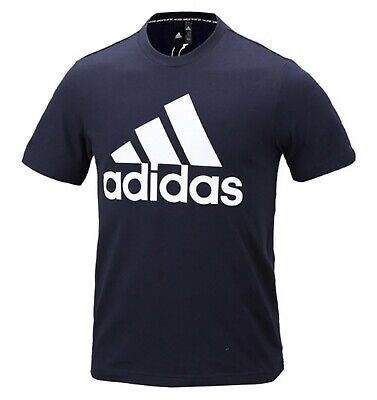 Adidas Men MH BOS T-Shirts S/S Jersey Navy Training Casual Tee GYM Shirt DT9932