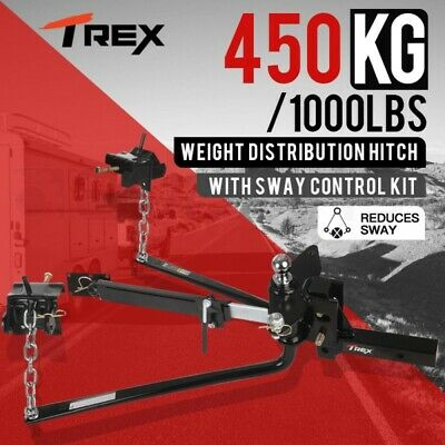 1000lbs Round Bar Weight Distribution System with Sway Control