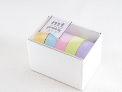 MT Pastel 2 Washi Paper Tape Gift Box Brand New Pastel Colours MT05G007Z