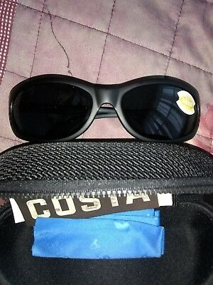 75c68987b7 COSTA FATHOM MATTE Black w Grey 580P lens NEW Sunglasses (FA11 OGP ...