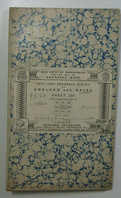 1898 Old Antique OS Ordnance Survey Revised New Series One-Inch Map 107 Denbigh