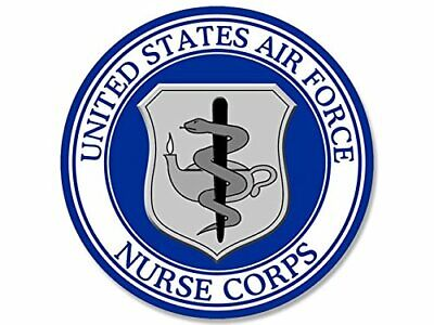 4x4 inch Round US Air Force Nurse Corps Seal Sticker (USAF Logo)
