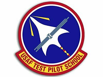4x4 inch Round US Airforce Test Pilot School Logo Sticker (USAF Edwards ca)