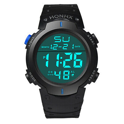 Men's Digital Sports Watch LED Screen Large Face Military Outdoor Watches