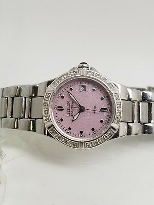 Citizen Solar Eco-Drive Pink Dial Stainless Steel Ladies Watch GN 4W S 9