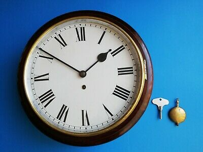 #094 ANTIQUE 1940s SMITHS SCHOOL/OFFICE WALL CLOCK 8-DAY MECHANISM