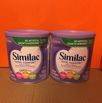 Lot Of 2 Similac Total Comfort Infant Formula With Iron, 12 Oz Each