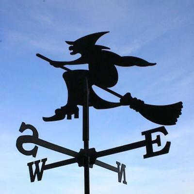 Standard Witch Metal Weathervane (Vertical Fixing Bracket)