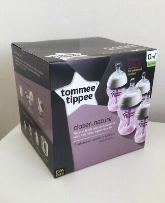 Tommee Tippee Closer To Nature Advanced Comfort Anti Colic Bottles 4 x 260ml