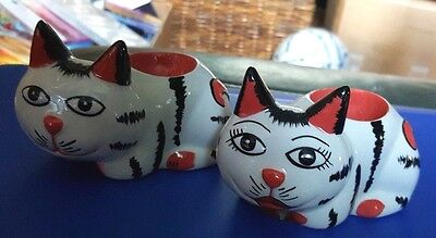 Lorna Bailey COLLECT IT magazine twin egg cups Limited Edition 48/100 FREE P&P #