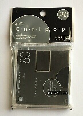 Daiso MD 80 Cutipop Black Minidisc - Sealed