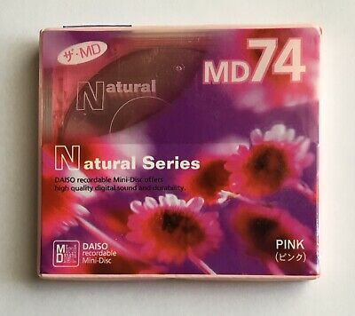 Daiso MD 74 Natural Series Pink Minidisc - Sealed