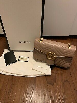 89b63234dee Gucci Marmont Matelasse Small In Dusty Pink - Authentic With Box And Dust  Bag