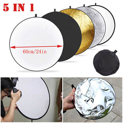 5in1 Handheld Light Collapsible Disc Photograph Studio Multi Reflector 60cm YJ