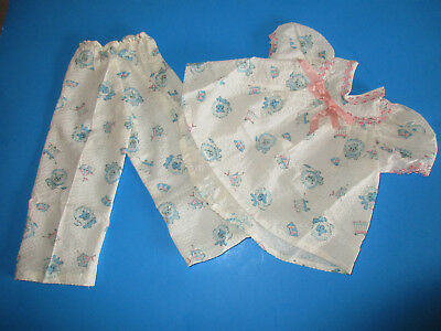"Vintage 1950's 1960's Adorable Lion Print 2pc Pajamas for 22"" - 23"" Dolls"