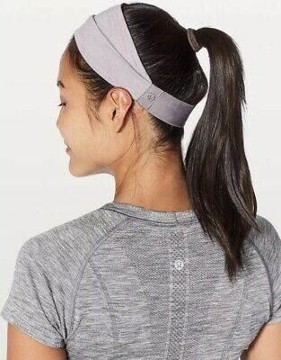 f5a77e03b39 NWT LULULEMON FRINGE Fighter Headband Double Sided Reversible Glsy ...