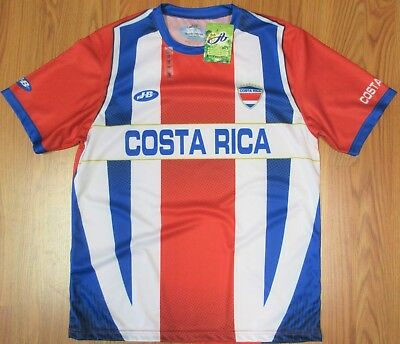 release date 0cea3 b97c7 NEW! COSTA RICA NATIONAL SOCCER JERSEY TEAM COLORS Sz LARGE ...