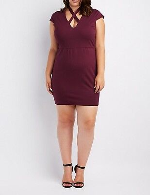 8b72beae NWT CHARLOTTE RUSSE Holiday New Year Party Sequin V-Neck Bodycon ...