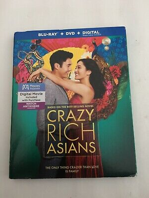 Crazy Rich Asians, Includes Digital Copy Blu-ray + DVD]