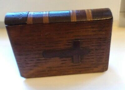 Antique Vintage Treen Wooden Prayer Book Bible Holder