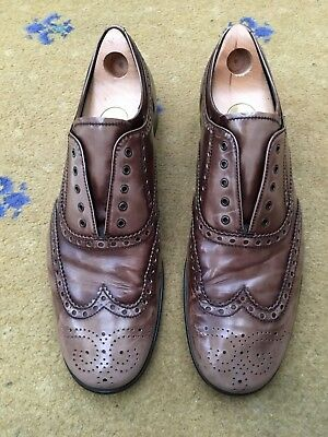 8124a8c6bfc4e Prada Mens Brown Leather Lace Up Loafers Shoes UK 10 US 11 EU 44 Shaded