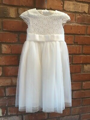 037767986f8 Debenhams RJR Flower Girl dress age 5 Ivory lace bridesmaid excellent  condition