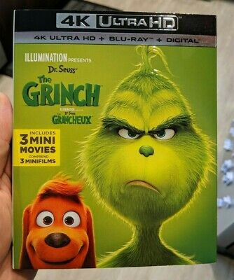 The Grinch (Blu-ray + 4K UHD) BRAND NEW!! w/ Slipcover!!