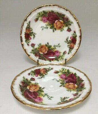 2 Vintage Royal Albert Old Country Roses Pin Dishes