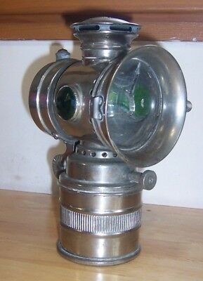 HEADLIGHT CARBIDE Search-Light Antique Bicycle Lamp VITAPHARE VINTAGE ACETYLENE