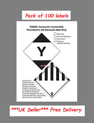 Pack Of 100 Large ID8000 Consumer Commodity Labels