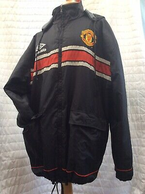 479d2edc56 Vintage 90's MANCHESTER UNITED Managers Bench jacket Coat Umbro Sharp Large  52""