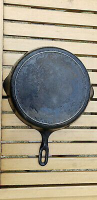 Vtg Griswold Iron Mountain 10 Cast Iron Skillet 1083 Heat Ring HTF Antique Rare