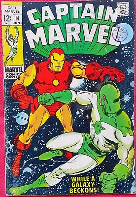 CAPTAIN MARVEL 14 MARVEL SILVER AGE 1969 Iron Man