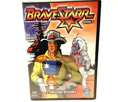 BraveStarr Volume 3 - DVD PAL Region Free - Running Time 43 minutes - New Sealed