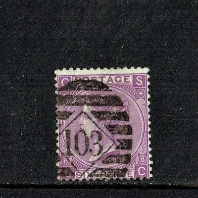 GB QUEEN VICTORIA 1867 6d DULL VIOLET (Without Hyphen) Mi30b, SG108(28a) VFU