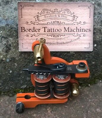 Border Tattoo Machine, Cut-Back Liner Iron Frame Custom 7&half Layer 32Mm Coils