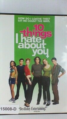 DVD Movie 10 THINGS I HATE ABOUT YOU Heath Ledger  in Original Jacket FS 08