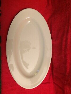 "New 15"" X 8-3/4"" Homer Laughlin China Platter! Ivory Color"