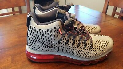release date 39b21 5c302 Nike Air Max Graviton Red Athletic Shoes Silver Sneakers 616045-006 Mens Sz  9.5