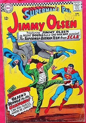 Supermans Pal Jimmy Olsen 92 DC Silver Age 1966 The Man From S.C.A.R