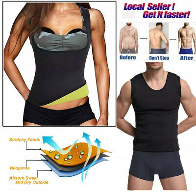 Hot Sweat Sauna Body Shaper Women Slimming Vest Neoprene Waist Trainer UK 6297 ✅