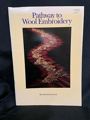 Pathway to Wool Embroidery Pattern Instruction Book GLOVES PINCUSHION BLANKET