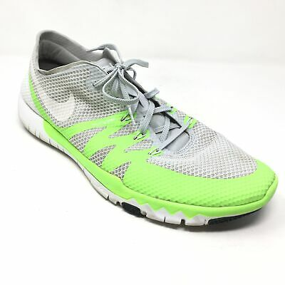 eea55bfd16de7 Men s Nike Free Trainer 3.0 v3 Shoes Sneaker Size 15 Gray Green Athletic C14