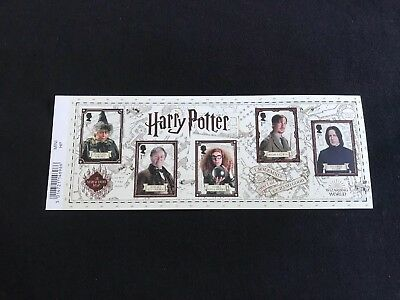 2018 Harry Potter Mini Sheet Mint Condition With Barcode Margin